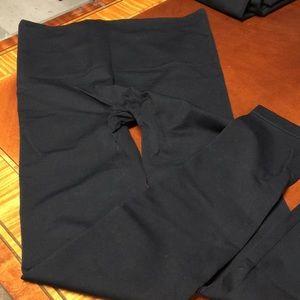 Black footless leggings by Spanx